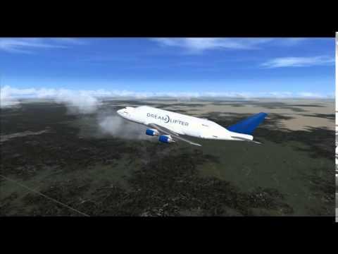 Dreamlifter Jumbo Jet Finally Takes Off After Landing At Wrong Airport*Wichita Kansas