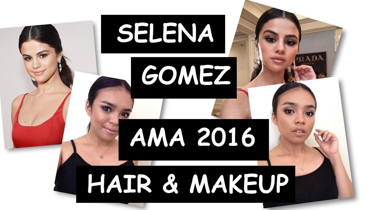 Selena Gomez AMA 2016 Hair and Makeup Tutorial | Mykee Mae