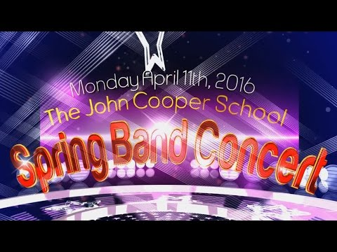 2016 Spring Band Concert - The John Cooper School