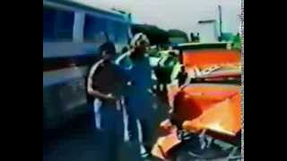 Behind the scenes footage of the Dukes of Hazzard train jump
