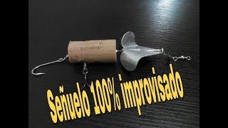 SUPER SEÑUELO IMPROVISADO PARA PESCAR BLACK BASS O LOBINA/ANUNCIO 100 SUSCRIPTORES