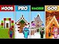 Minecraft NOOB Vs. PRO Vs. HACKER Vs. GOD: FAMILY CHRISTMAS HOUSE In Minecraft! (Animation)