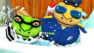 POLICE FROG FLUSHES CRIMINAL FROG DOWN THE MAGIC TOILET ! - Amazing Frog - Part 136 | Pungence