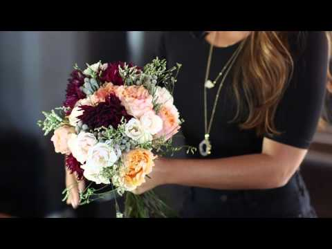 How to make a fresh flower bridal bouquet