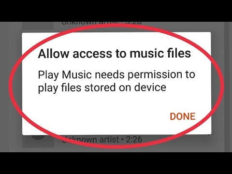 Fix Google Play Music Allow Access To Music Files Problem Solve