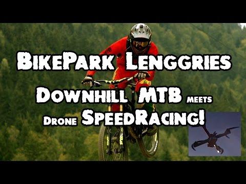 BikePark Lenggries - downhill MTB meets drone speed racing! :-)