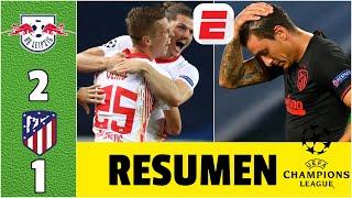 Leipzig 2-1 Atlético Madrid | Resumen UCL | ELIMINADO el Atleti. Alemanes vs PSG SEMIS de CHAMPIONS