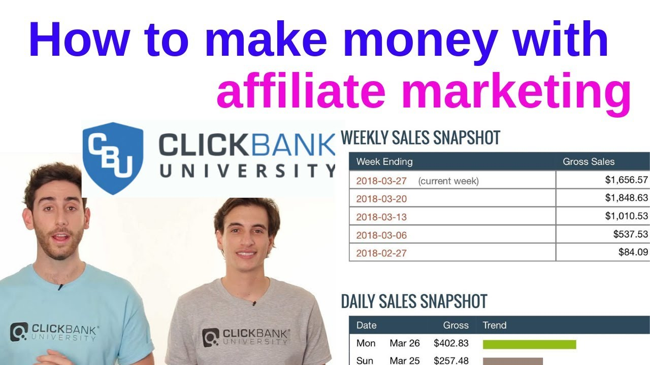 Clickbank University - How to make money online with affiliate ...