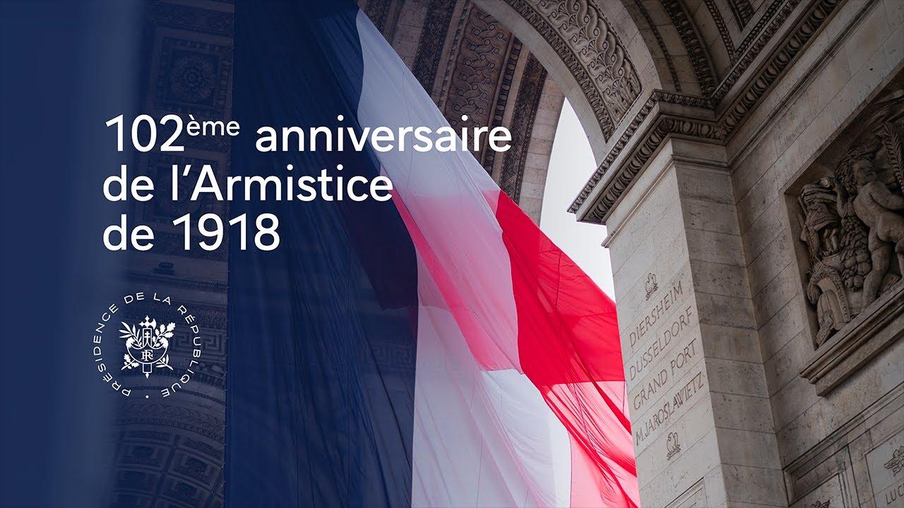 ARMISTICE : 102ème cérémonie de commémoration de l'Armistice de 1918