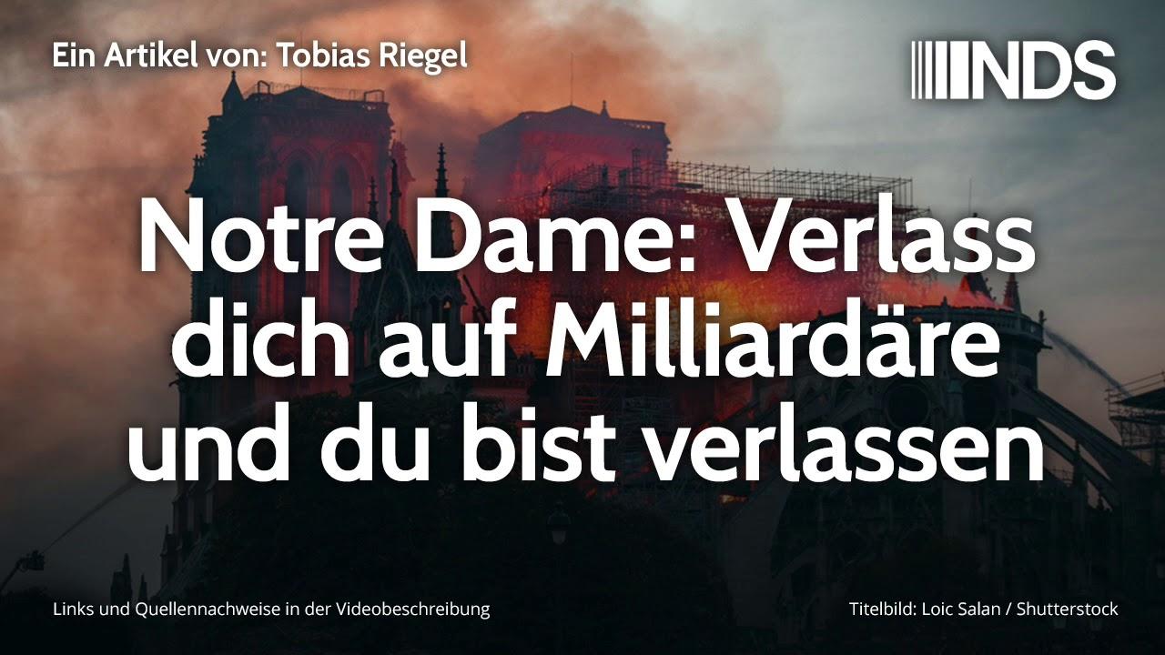 Bildergebnis für Notre Dame: Verlass dich auf Milliardäre und du bist verlassen