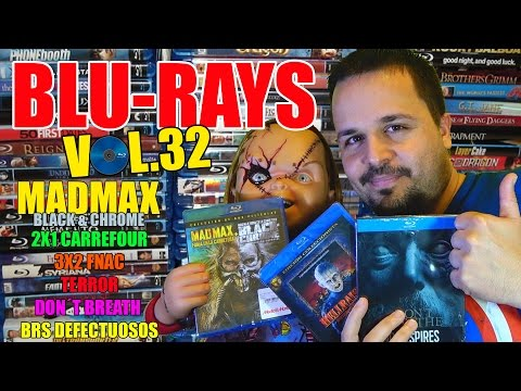 Blu-ray Movies (Vol.32) - HD - Review - Terror - Don´t Breath - Mad Max Black & Chrome - Unboxing