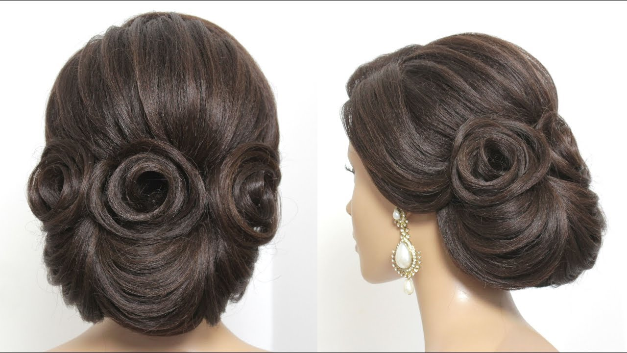 New Bridal  Updo  Trendy Wedding  Hairstyle  For Long Hair