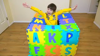 ABC song nursery rhyme for kids ABCのうた アルファベット 隠された??  こうくんねみちゃん