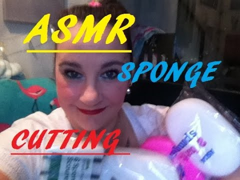 ASMR Sponge cutting and ripping💧 💦🛀 ✂️