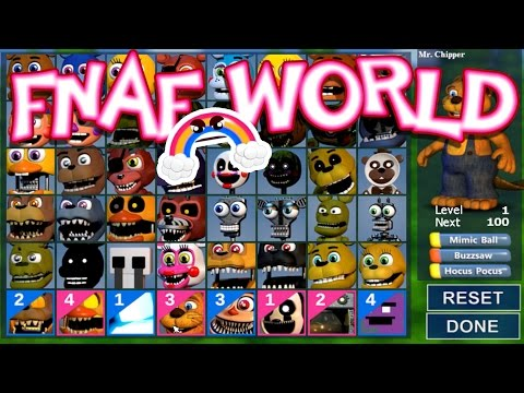ALL CHARACTERS UNLOCKED!!!! [Ep. 25] | FNaF World : UPDATE 2