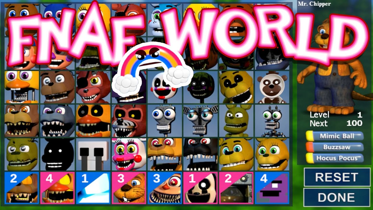 ALL CHARACTERS UNLOCKED!!!! [Ep  25] | FNaF World : UPDATE 2