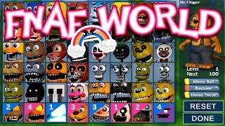 ALL CHARACTERS UNLOCKED Ep. 25 FNaF World UPDATE 2