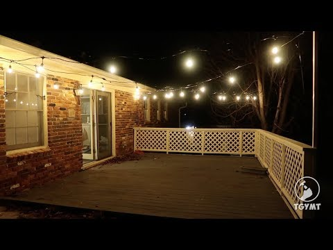 String Light Installation Commercial Grade