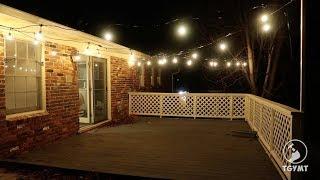 Amazon string light installation (Commercial grade)