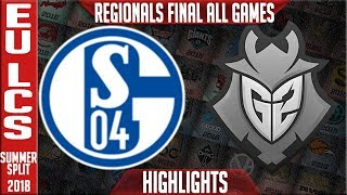S04 vs G2 Highlights ALL GAMES | EU LCS Regional