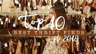 * Top 10 BEST Thrift Finds of 2018! *