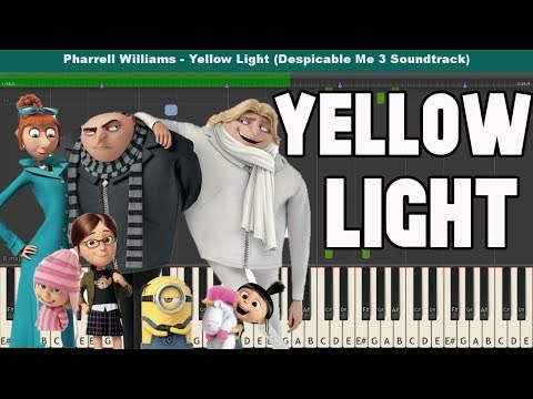 Yellow Light Piano Tutorial  Pharrell Williams Despicable Me 3 Soundtrack