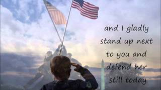 Lee Greenwood God Bless the U S A lyrics