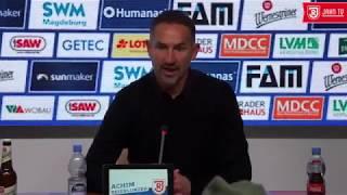 Pressekonferenz nach dem 13. Spieltag gegen Magdeburg