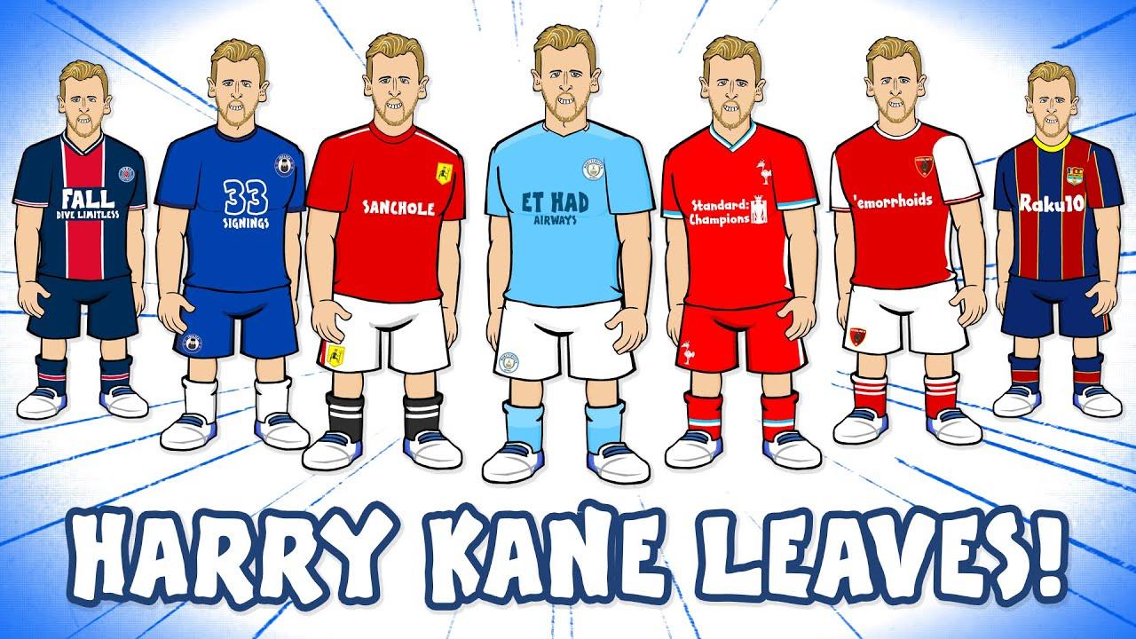 Kane To Leave Spurs Man Utd Man City Chelsea Liverpool Arsenal Barcelona Psg Transfer Youtube