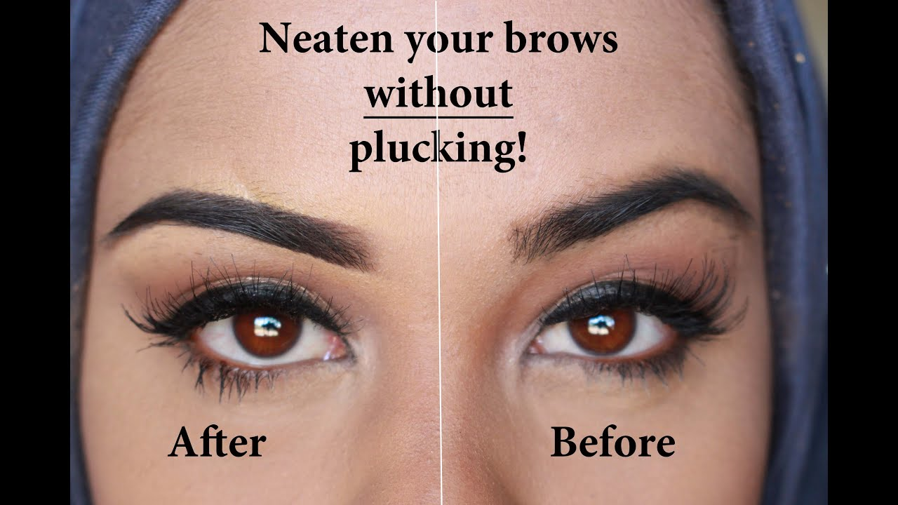 Neaten Your Eyebrows Without Plucking Youtube