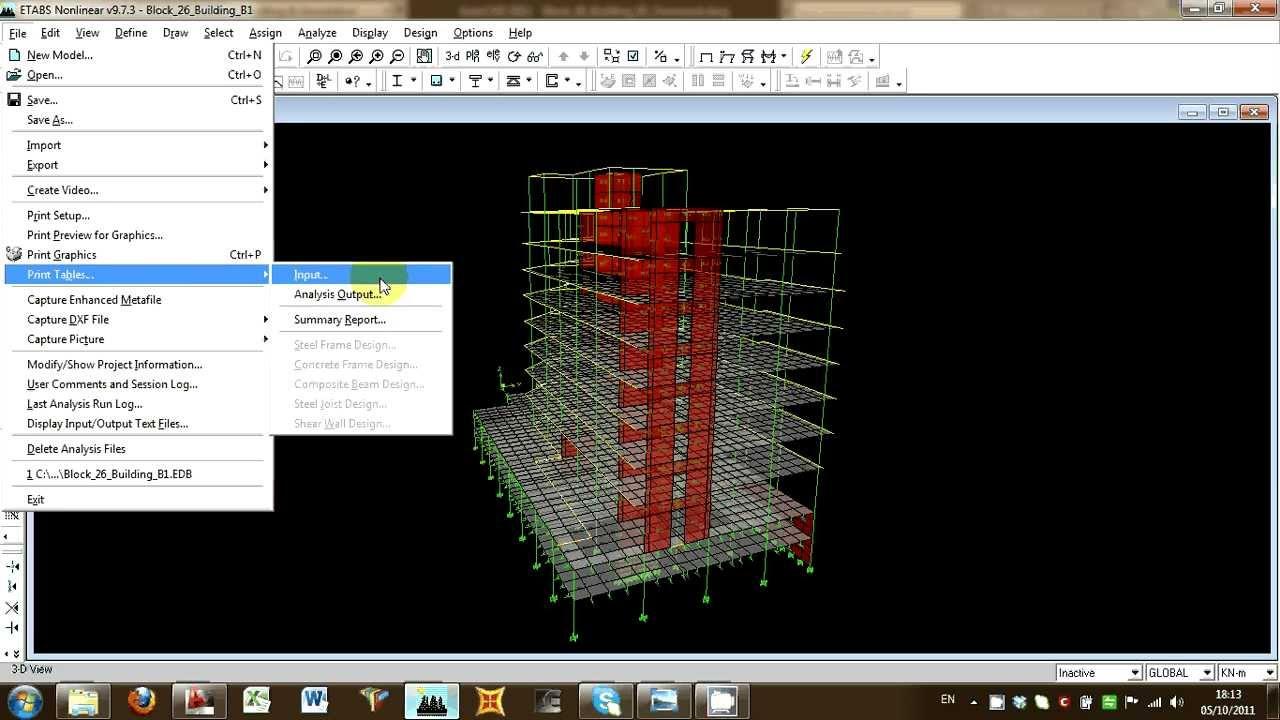 Wall Design Etabs : Ectools etabs design of complex building according to