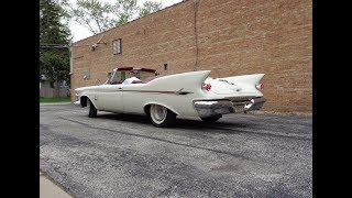1961 Imperial Crown Convertible in White & Engine Sound on My Car Story with Lou Costabile