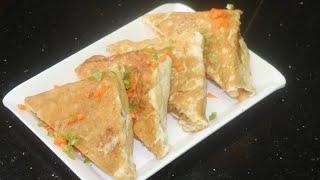 Egg fry veg sandwich (homemade snacks)