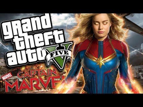 Marvel Studios' Captain Marvel MOD w/ Super Powers (GTA 5 PC Mods Gameplay) thumbnail