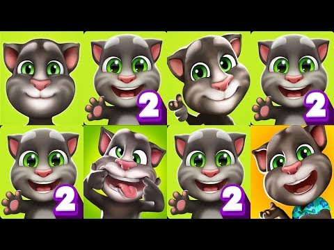 My Talking Tom Vs My Talking Tom 2 Android Gameplay