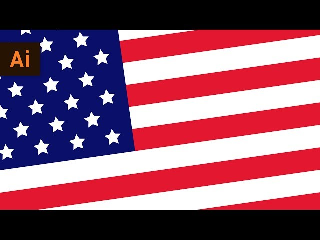 How to Make a Vector American Flag | Illustrator Tutorial