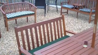 Hardwood Garden Dining Bench Set