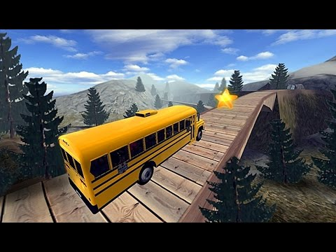 School Bus Driver Hill Climb - Android Gameplay HD