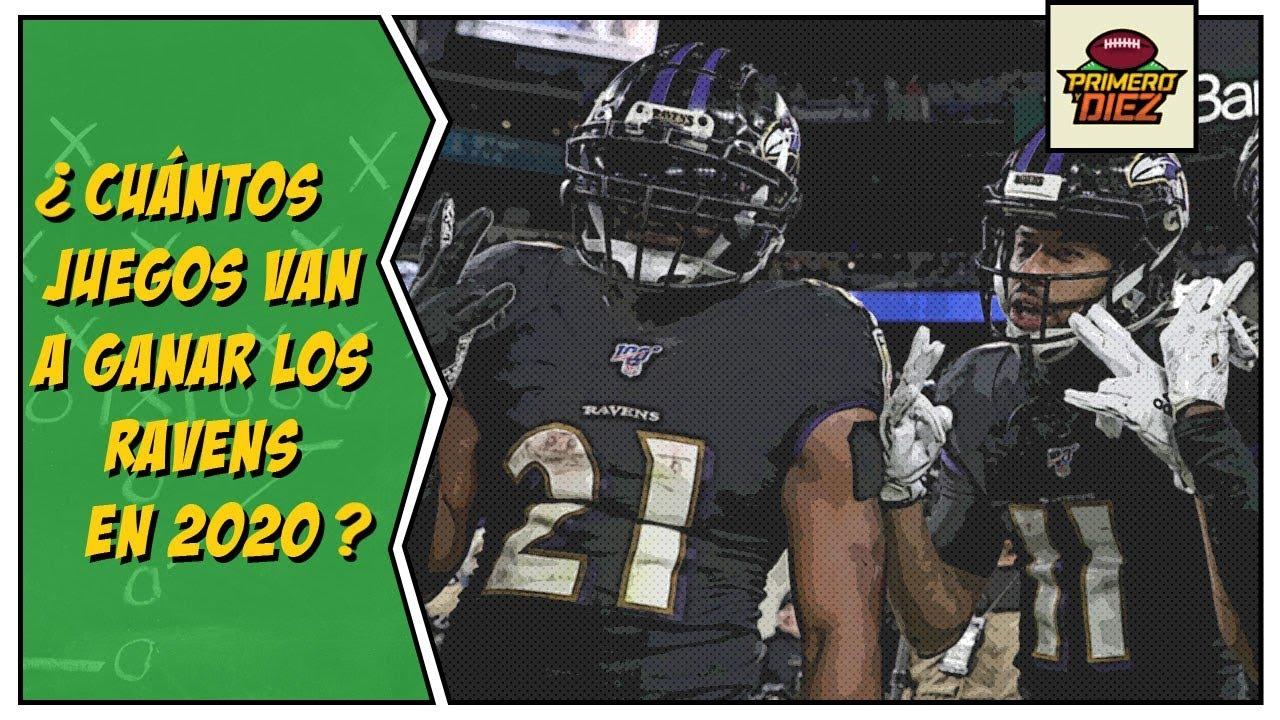 ¿Cuántos juegos van a ganar los Ravens en la Temporada NFL 2020?