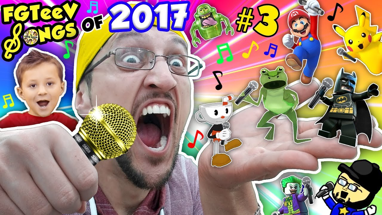 Fgteev Songs Of 2017 Part 3 Amazing Frog Minecraft Lego