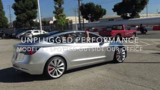 Tesla Model 3 Prototype In The Wild, Outside Unplugged Performance Office - March 2017