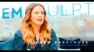Drew Barrymore discussing her EMSculpt treatment experience