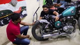 Modified / Custom Bobber on Royal Enfield - Part 1 - King Indian