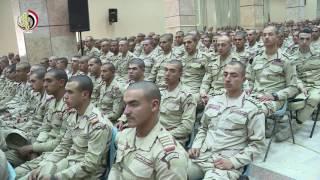 وزير الدفاع يشهد بيانا لهجوم على كمين نموذجي وتصدي طلاب الكلية الحربية له.. فيديو