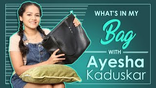 What's In My Bag With Ayesha Kaduskar | Exclusive | India Forums thumbnail