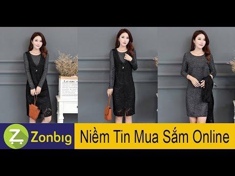 [Zonbig.com] - Đầm Váy Kim Tuyến Phối Tanktop Ren