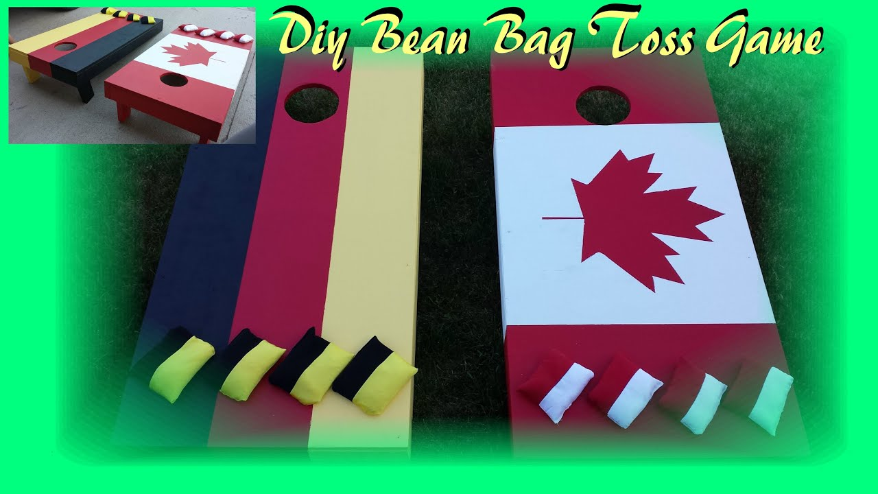 how to make wooden bean bag toss game