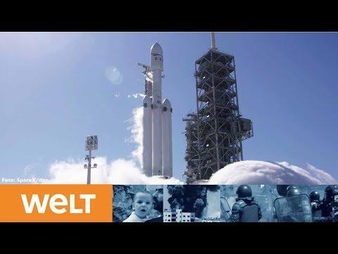 SpaceX 'Falcon Heavy': So schießt Elon Musk seinen Tesla-Roadster ins All