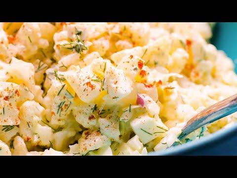Easy Cauliflower Potato Salad Recipe | Healthy and Delicious