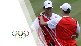 Mike & Bob Bryan Win Tennis Doubles Gold V Tsonga & Llodra - London 2012 Olympics